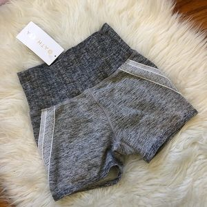 NWT Athleta 'Agile' Gray Workout Shorts